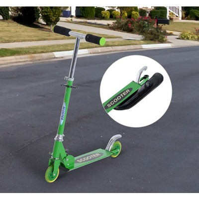 Qaba 2-in-1 Convertible All-weather Scooter Snow Street Amphibious w/ Wheels Blades (Green)