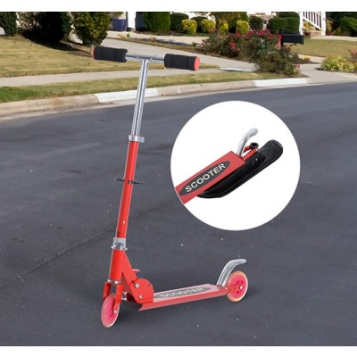 Qaba 2-in-1 Convertible All-weather Scooter Snow Street Amphibious w/ Wheels Blades (Red)