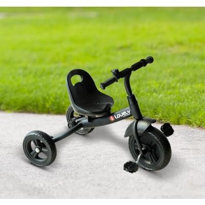 Qaba Baby Tricycle Toddler Trike Bike Ride On Steel Frame Kids Activity Sports, Black