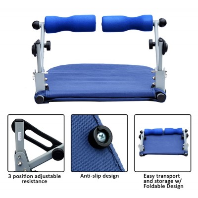 Soozier Core Smart Workout Equipment Abs Full Body Exercise Trainer Home Gym Blue