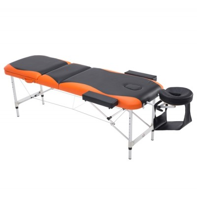 HOMCOM 6'x2' Massage Table Salon Spa Bed Tattoo 3pc Sheet w/Headrest Free W/bag