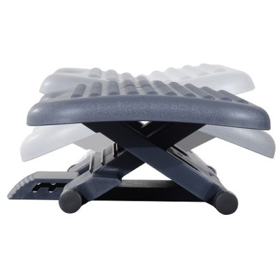 HOMCOM Ergonomic Footrest Adjustable Height and Angle Home Office Foot Rest Stool