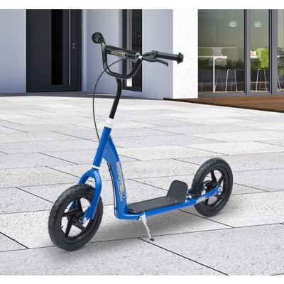 """Qaba Adjustable Kids Pro Stunt Scooter Children Street Bike Bicycle Ride On with 12"""" Tire (Blue)"""