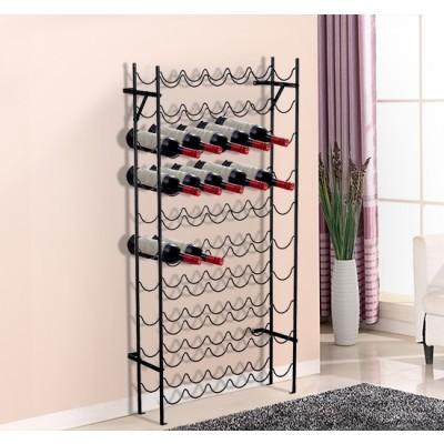 HOMCOM Metal Cellar Wine Rack 60-Bottle Wine Display Organizer Bottle Holder Storage Stand Black