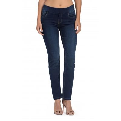Bluberry Women's Ira Blue Rinse base Straight leg Denim