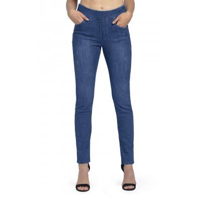 Bluberry Women's Romola Indigo light base Slim leg denim