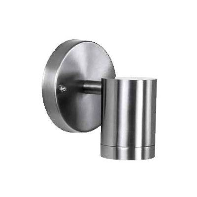 Outdoor 1-Light LED Stainless Steel Wall Cylinder
