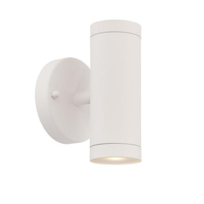 Outdoor 2-Light LED Stainless Steel Wall Cylinder