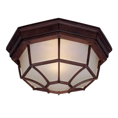 Outdoor 2-Light Ceiling Flushmount Fixture