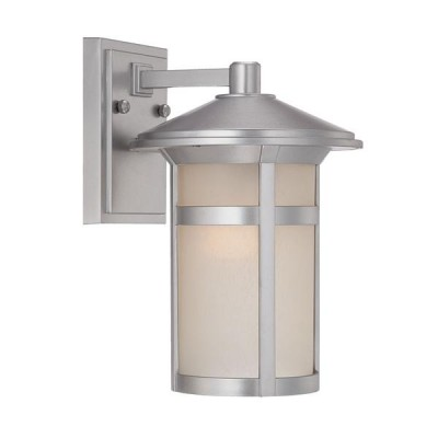 Phoenix 1-Light Wall Mount in Brushed Silver