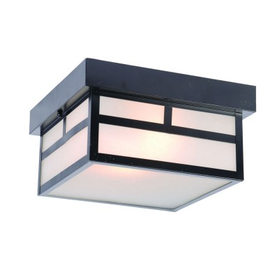 Artisan 2-Light Outdoor Ceiling Flushmount