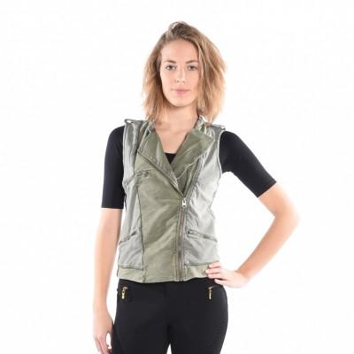 Scarlett Knit Vest In Olive