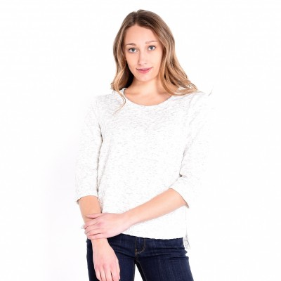 Heather Oatmeal Knit Top