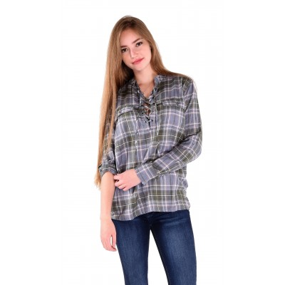 Army Ladies Long Sleeve Blouse