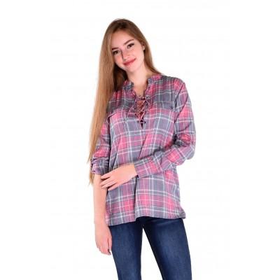 Ladies Long Sleeve Blouse in Pink