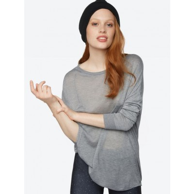 Fine Knit Jumper In Grey