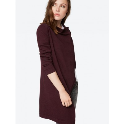 Long Cardigan In Cerise