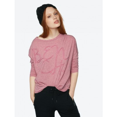 Marl Long-Sleeve In Pink
