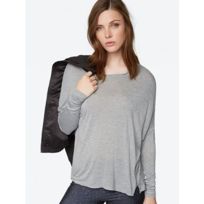Long-Sleeve Top In Grey