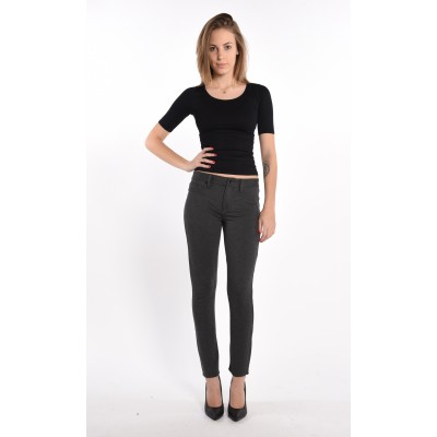 Stretch Jeggings In Charcoal