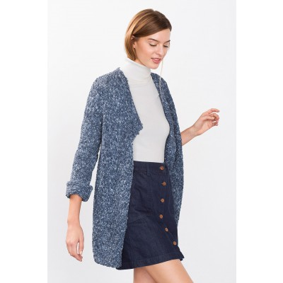 Open-Fronted Knit Cardigan