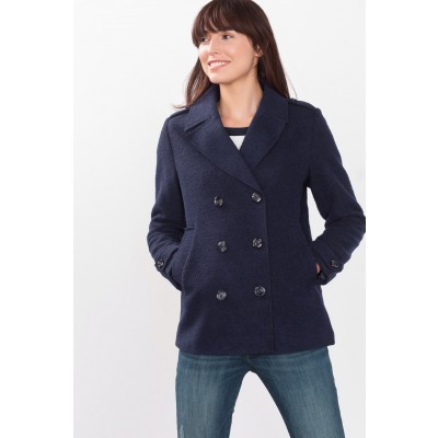 Knitted Coat Jacket In Navy