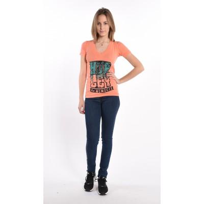 Palm Print V-Neck T-Shirt
