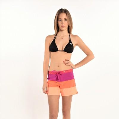 "Phantom 5"" Color Blocks Beachrider Short In Purple/Orange"