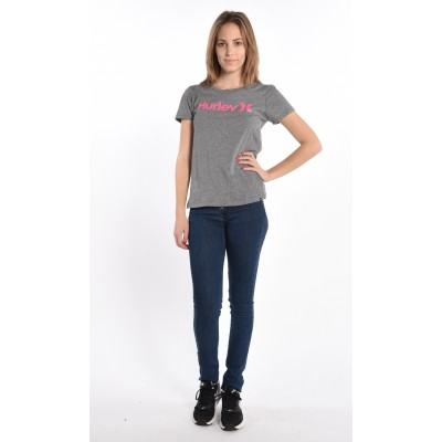 One And Only T-Shirt In Grey/Pink