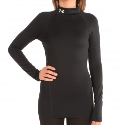 Women's ColdGear Infrared EVO Mock Top Black