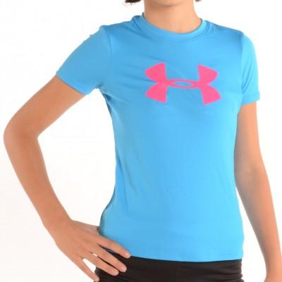 Girl's Big Logo Tech Shirt Blue/Pink