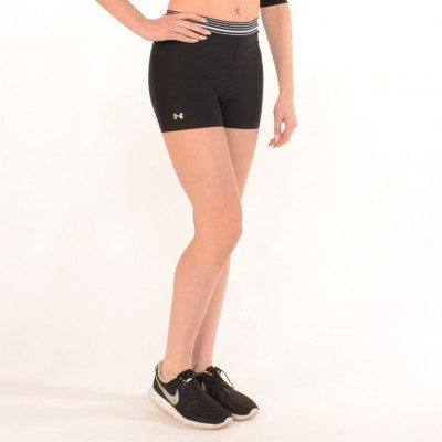 Workout Compression Shorts in Black with White stripes