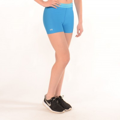Workout Compression Shorts in Light Blue