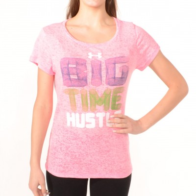 Women's T-shirt Big Time Hustle in Pink
