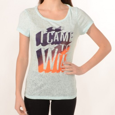 Women's T-shirt I Came To Win in Light Blue