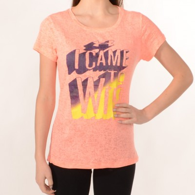 Women's T-shirt I Came To Win in Orange