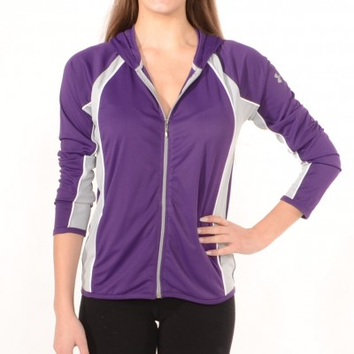 Zip-up sport jacket in Dark Purple