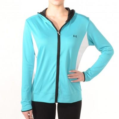 Zip-up sport jacket in Turquoise