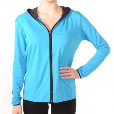 Zip-up sport jacket in Blue