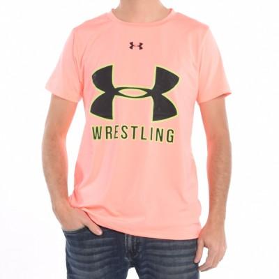 Men's wrestling T-shirt in Peach