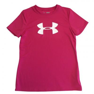 Girl's Big Logo Tech Shirt Rebel Pink/White