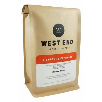 West End Coffee Roasters, Signature Espresso, Medium Roast, Whole Bean 14oz (Pack of 2)