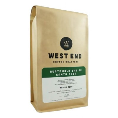 West End Coffee Roasters, Guatemala Santa Rosa, Medium Roast, Whole Bean 14oz (Pack of 2)