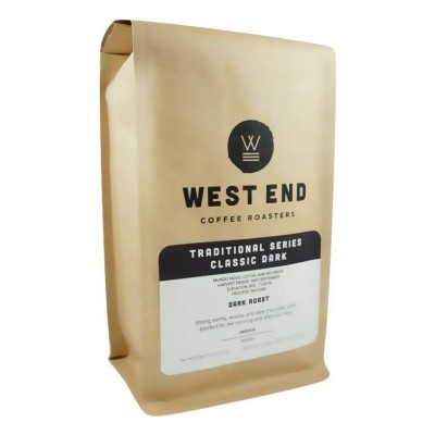 West End Coffee Roasters, Classic Dark Roast, Dark Roast, Whole Bean 14oz (Pack of 2)
