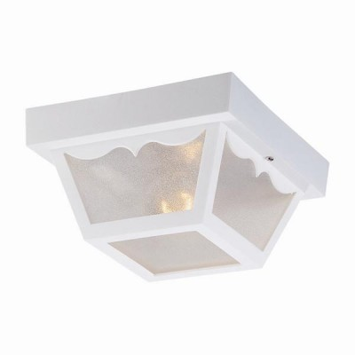 Builders' Choice Polycarbonate Outdoor Ceiling 1-Light Flushmount