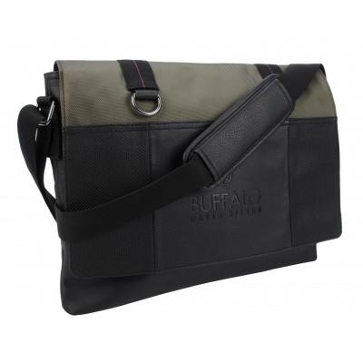 Buffalo David Bitton Thomas Messenger Bag in Khaki