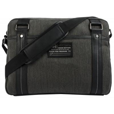 Buffalo David Bitton Robinson Denim Messenger Bag in Denim Black