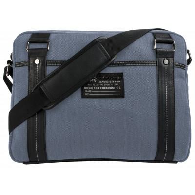 Buffalo David Bitton Robinson Denim Messenger Bag in Denim Blue