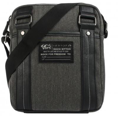 Buffalo David Bitton Robinson Denim Crossbody Bag in Denim Black