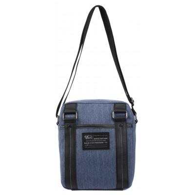 Buffalo David Bitton Robinson Denim Crossbody Bag in Denim Blue
